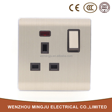 13A neon color wall electrical sockets and switches