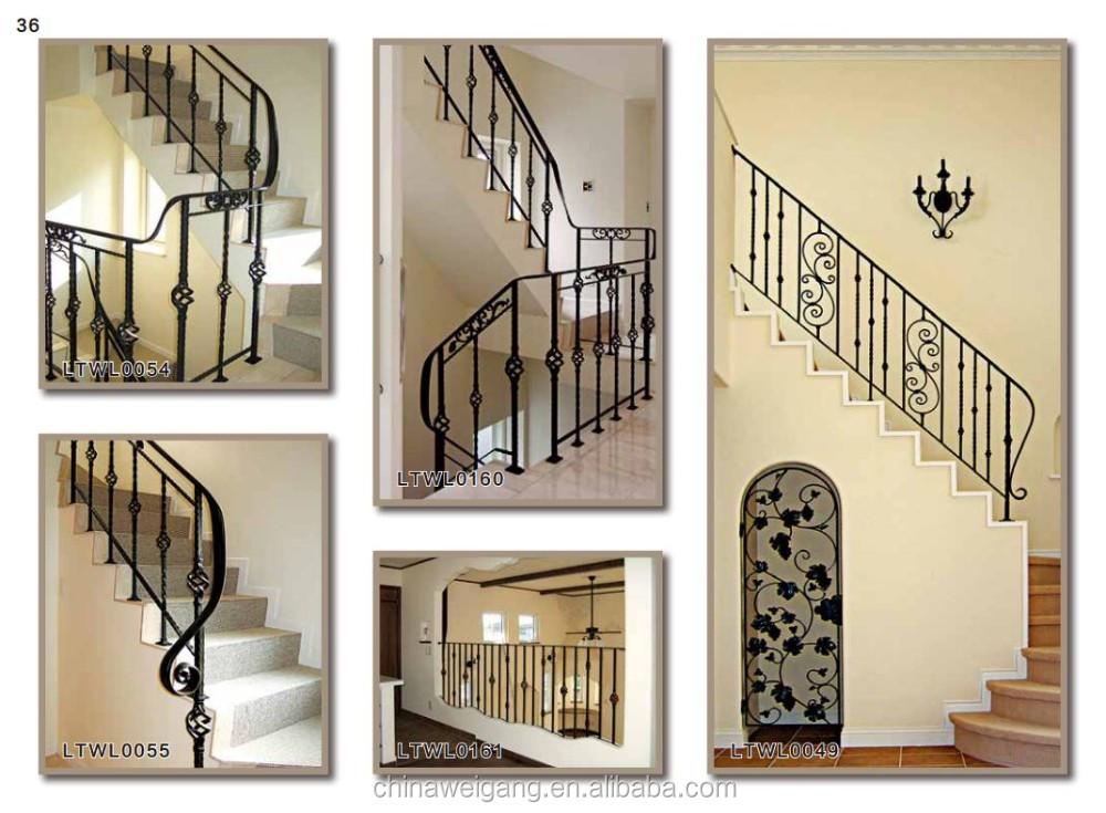 Rustproof Durable Interior Wrought Iron Stair Railings Design Buy Interior Wrought Iron Stair