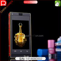 Mini D6 2.5 inch low price android smart phone with Android pure Edition 4.3 OS dual camera for Europe