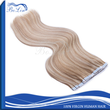 Highest Quality Human Hair Skin Weft 8-30inch Brazilian Remy Tape Hair Extension Natural Wavy Tape in Human Hair Extension