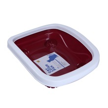 Cheap Plastic Red litter box cat for Cats litter Box Pet Box