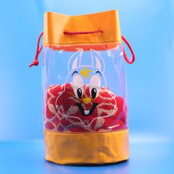 Yellow drawstring bag for toys