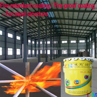 Fireproof paint- intumescent building flame proof coating for steel frame / metal fire-proof coating