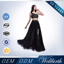 Fast Delivery Prom Dress Black Lace Chiffon Women Transparent Long Skirt