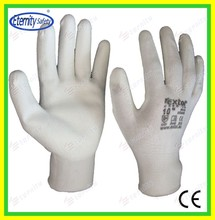 Eternity brand safety coated glove Thoughtful good service concept safety glove