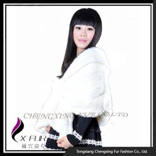 CX-B-M-01D New Design Factory Wholesale Natural Mink Fur Shawl