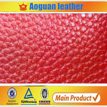 AGH351 100% pu leather contrast color litch surface in Russia market
