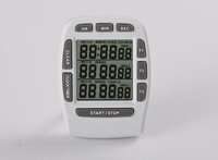 New product DIGITAL 3 Line Kitchen Timer,Count up down Timer,12/24 hours Clock Kitchen Timers