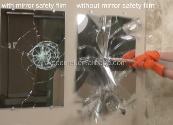 Espelho backing tecido película de segurança de proteção de segurança