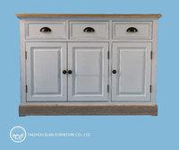 Solid wood furniture sideboard storage cabinet design for living room