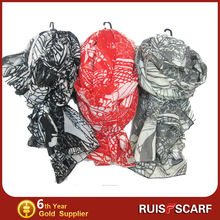 2015 New Design Lady's Double polyester scarf