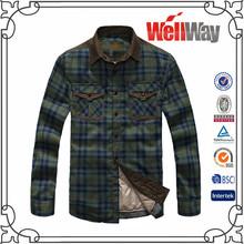 venta al por mayor de moda de marca baratos a cuadros de color marrón camisas y camisetasinformales para elinvierno