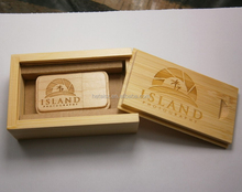 Custom wooden packing USB flash drive promotion gift 2G 4G 8G