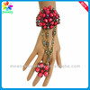 New Design Women Nature Lapis Gemstone Jewelry Slave Chain Link Finger Ring Beaded Bracelets