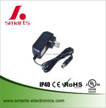220v 12v 24v 18w 1.5a ac to dc plug in power adapter with High quality