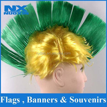 fashion popular synthetic Mohawk fans wig wholesale /PET cock fans wig promotion /custom high quality durable party wig