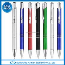 Factory directly sale Aluminum clickable metal ball pen cheap pen promotional pen