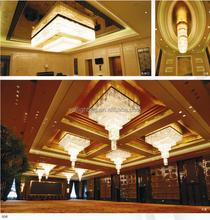 Hotel Lobby Crystal Ceiling light pendant lamp luxury chandelier