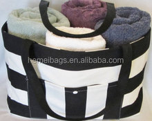Sofia Beach tote, personalized pool tote, huge diaper bag, striped tote, weekender, 6 colors, optional zip top