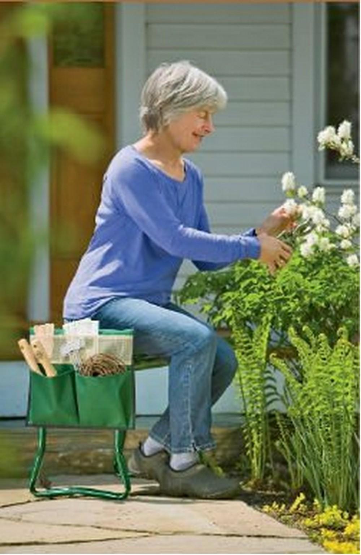 Pliable en m tal jardin kneeler jardin si ge tabouret genou tabouret pour le - Tabouret de jardinage ...