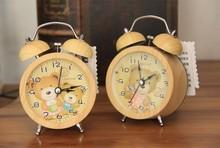 2015 Unique funny Wood running alarm clock