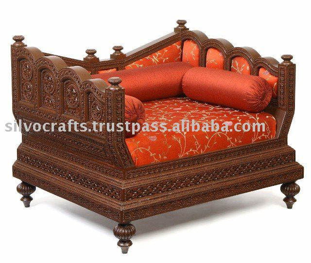 Indian rajasthani hand carved sofa set by classic for Diwan models india