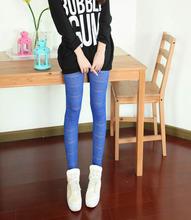 Spring Summer Korean Fashion Personality Wild Legging Jacquard Chinese Style Bottoming Pants 9028