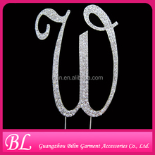 sparkling letter W cake topper for birthday party decorations