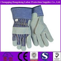 Top quality Double palm Mining Industry Working leather Gloves for transport