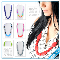 Colorful teething beads necklace wholesale in China