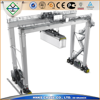 Double Girder RTG 35 Ton Mobile Container Used Gantry Crane For Sale