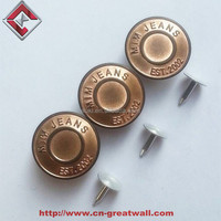 Brass Zinc Alloy Jean Button Metal Tack Buttons for Jeans