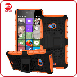 Dual Layer Tough Rugged Kickstand Hybrid Heavy Duty Shockproof Armor Back Case Cover for Nokia Lumia 540