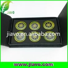 6pcs per box anti radiation sticker with golden&silver color