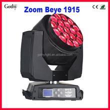 NEW!!! B Eye K10 Zoom 19x15w professional moving head rotating stage light