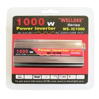 WELLSEE factory price solar off grid inverter for solar panel 1000W 12V 24V 220V