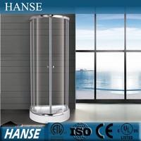 HS-SR9069X tempered glass design adjustable round corner shower enclosure