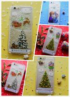 Custom Christmas Liquid Phone Case for Iphone $ Samsung Xmas Tree Santa Claus Case Cover