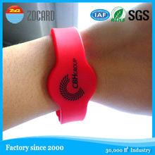 Factory price rfid silicone bracelet