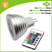 USA/ Europe market led spotlight 12v rgb mr16 3 years warranty 16 colors 3w colorful lamp