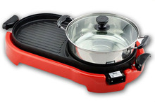 Red Korea Stick Cooker Multifunction Electric Hotplate Grill