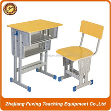 2015 Wholesale Adjustable Single School Desk And Chair