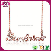 New Products 2015 Stainless Steel Letter R Pendant Necklace