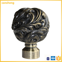 simple classic special design finial curtain rod