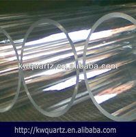 fused transparent round quartz glass pipe