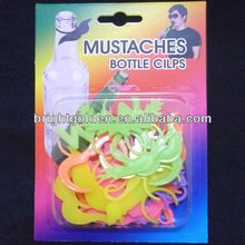 Glow in the dark Mustache Bottle Clip