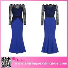 OEM service Long Maxi Prom Formal Cocktail Evening Dress Women's Blue Maxi Dresses