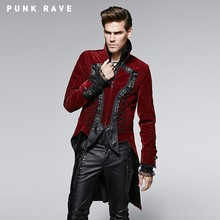 2015 Newly Arrival Elegant Spring Granny-chic Gothic man red Coat With Worsted Material
