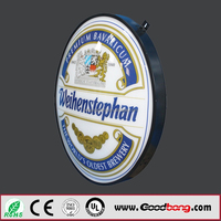 Outdoor Wall Mounted LED Rotating Light Box Signs for beer bar