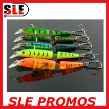 2015 Minnow 5 Colors Two-Section Hard Minnow Fishing Lure